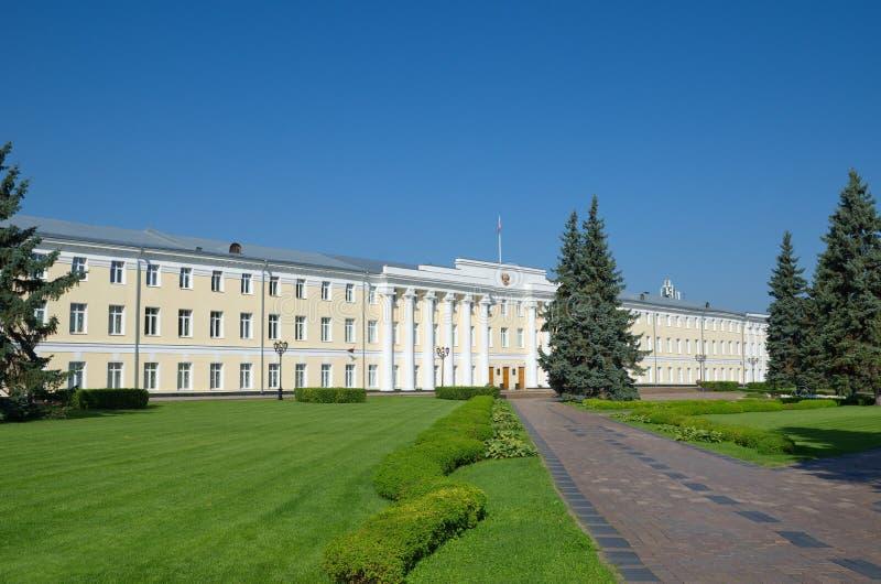 Административное здание на территории Nizhny Novgorod Кремля, России стоковые изображения