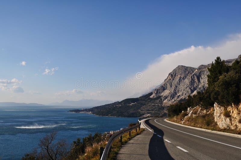 адриатическая трасса Хорватии стоковое фото