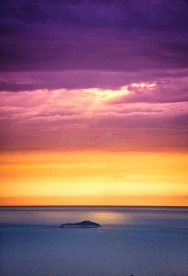 адриатический заход солнца стоковая фотография