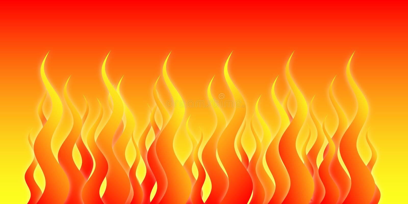 ад пожара иллюстрация штока