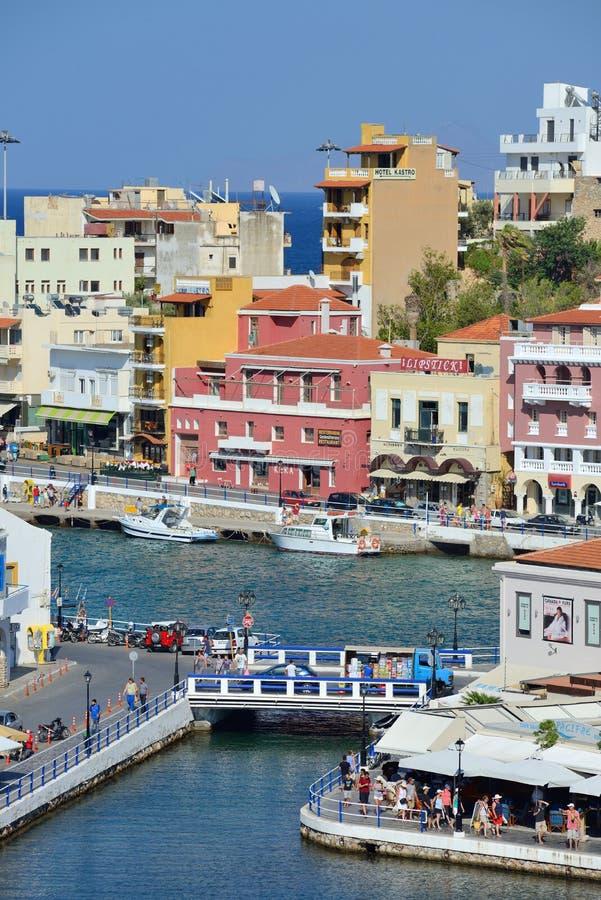 ажио Крит Греция nikolaos стоковые фото