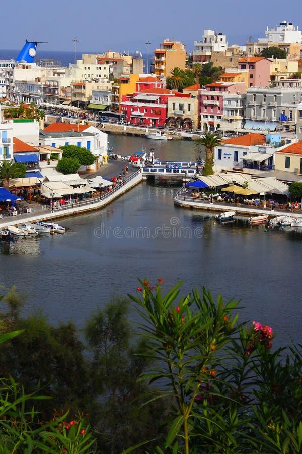 ажио Крит Греция nikolaos стоковые изображения rf
