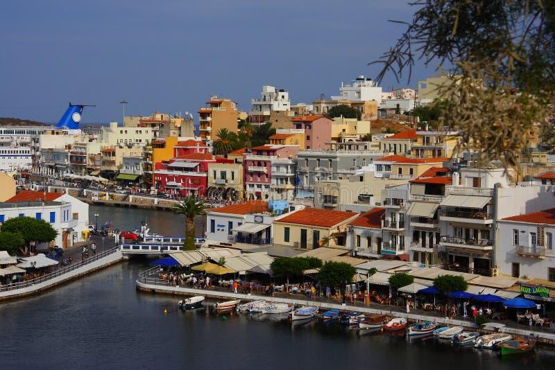 ажио Крит Греция nikolaos стоковая фотография