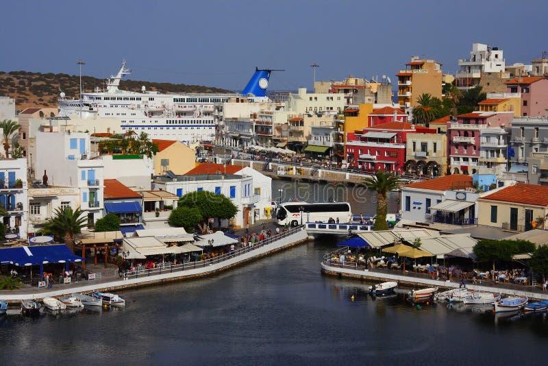 ажио Крит Греция nikolaos стоковые фотографии rf