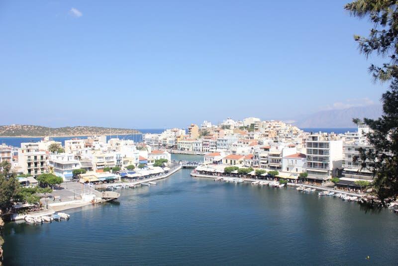 Ажио Nicolaos Крит стоковое фото