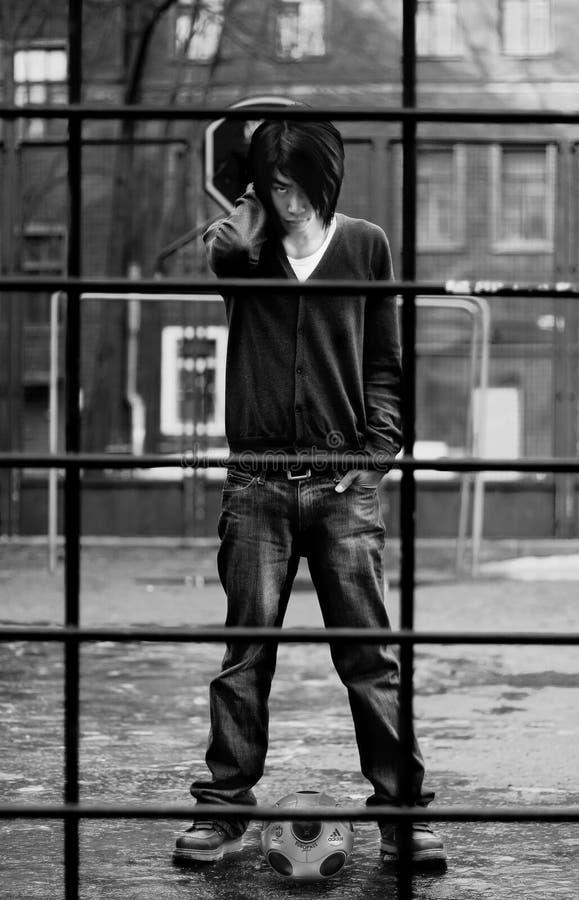 азиатская белизна чернокожего человек осени стоковые фото