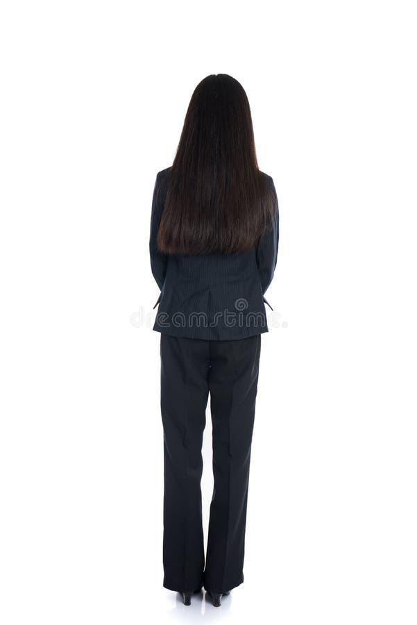 Азиатская бизнес-леди от задней части стоковая фотография rf