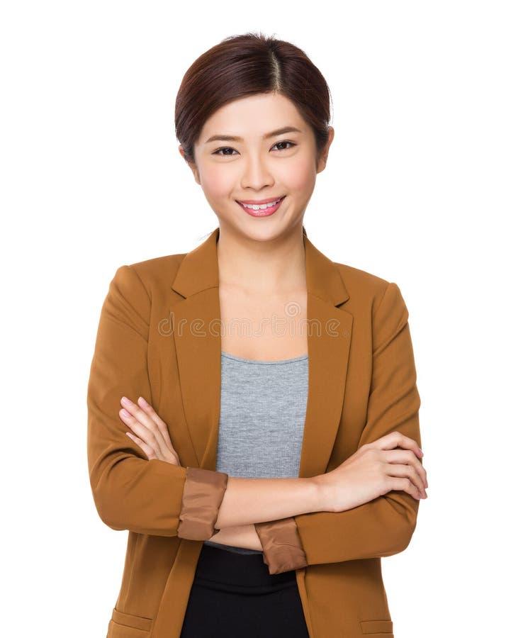 Азиатская бизнес-леди стоковые изображения