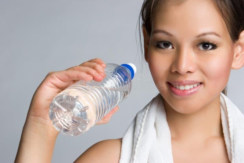 азиатская вода девушки стоковое изображение rf