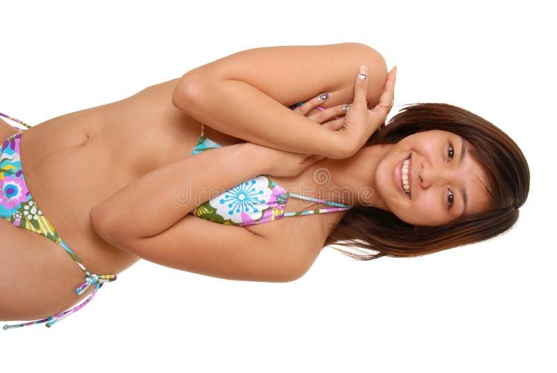 азиатская девушка бикини стоковое изображение