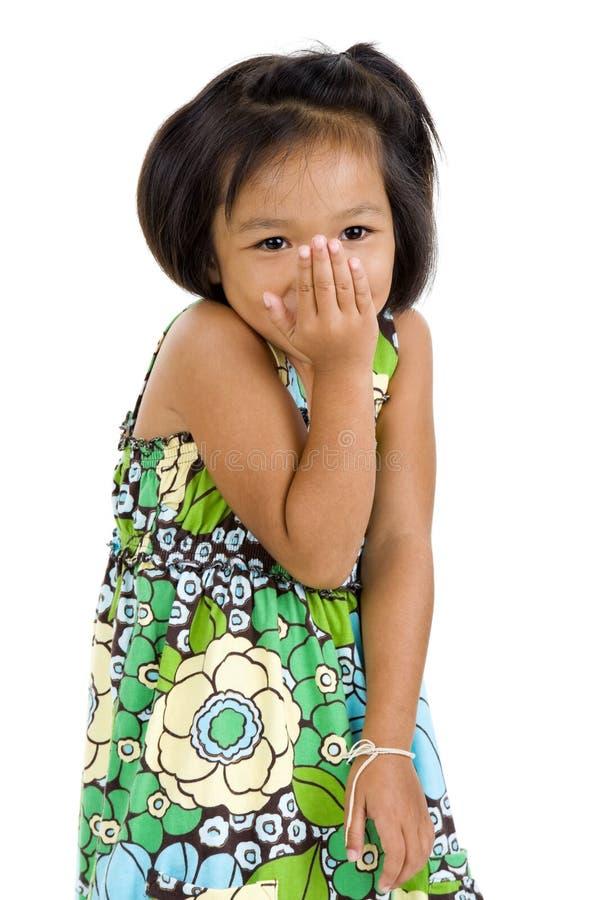 азиатская девушка застенчивая стоковое фото