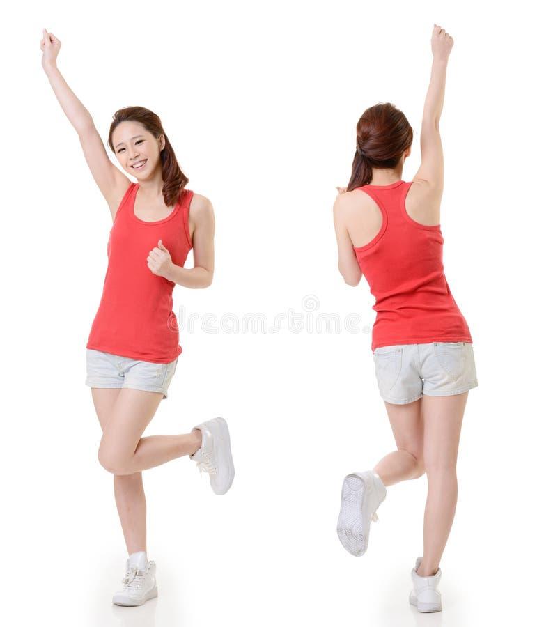 Азиатская девушка спорта стоковое изображение