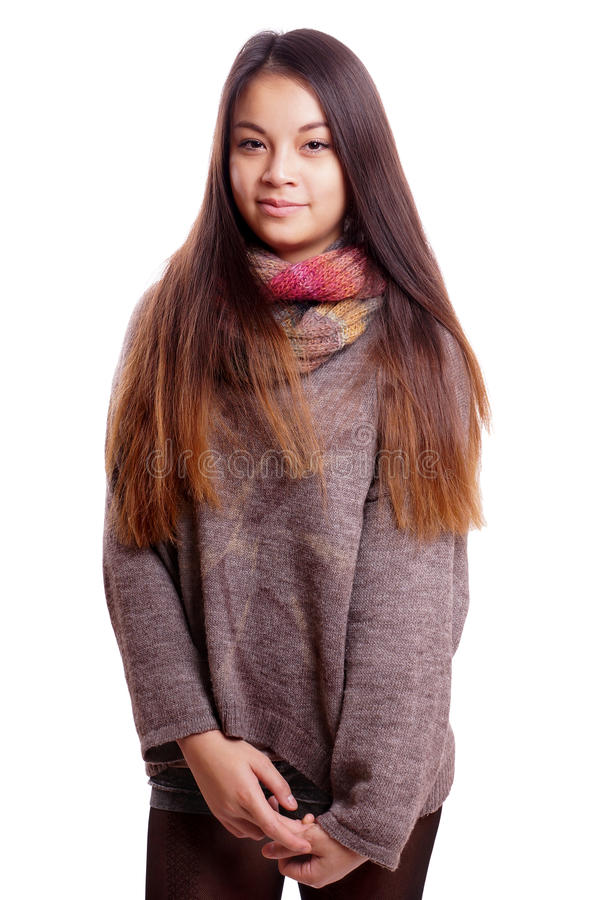 азиатская девушка застенчивая стоковые изображения