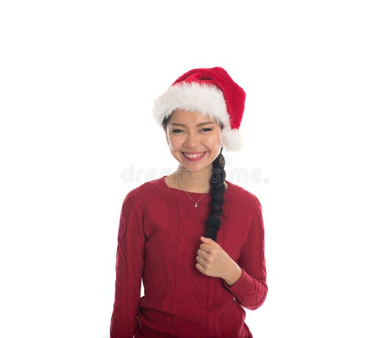азиатская девушка рождества стоковые фото
