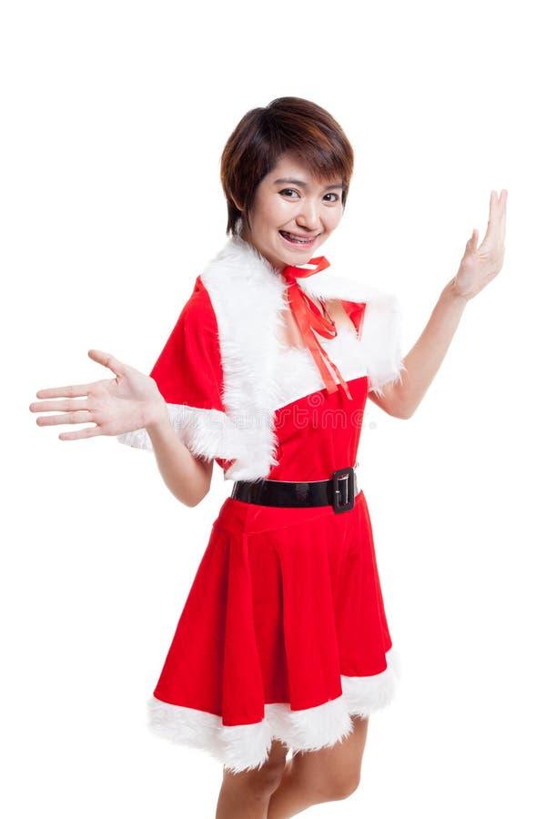 Download Азиатская девушка Санта Клауса рождества Стоковое Фото - изображение насчитывающей портрет, весело: 81812246