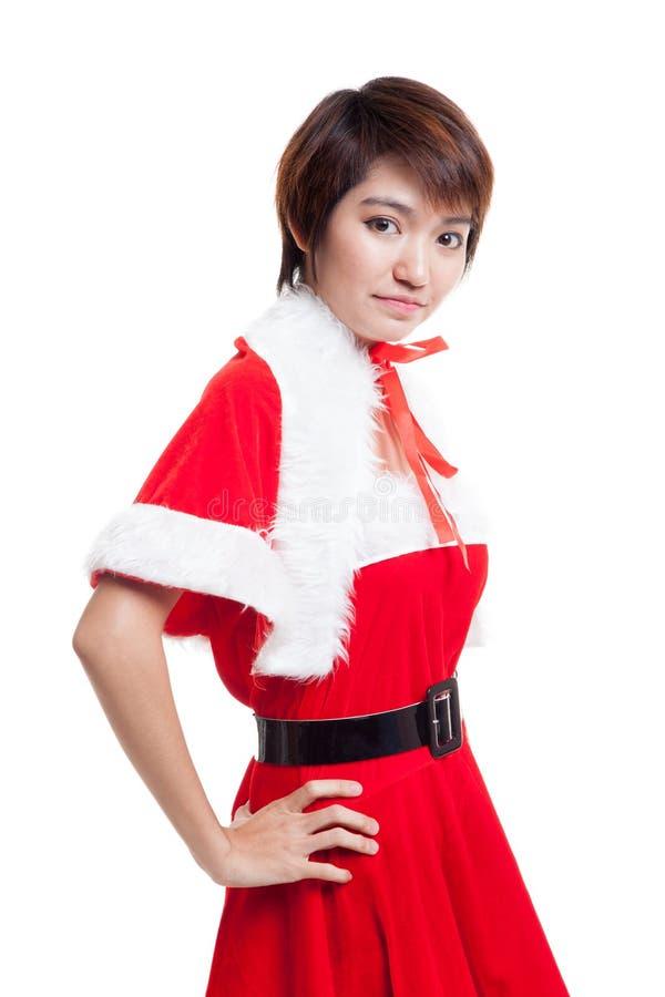 Download Азиатская девушка Санта Клауса рождества Стоковое Фото - изображение насчитывающей красно, празднично: 81812260