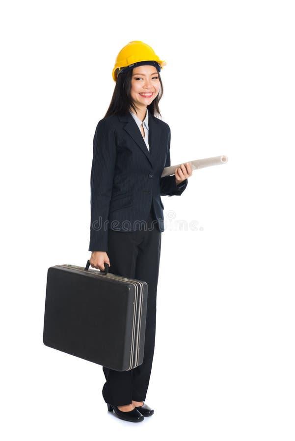 азиатская женщина инженера стоковое фото rf