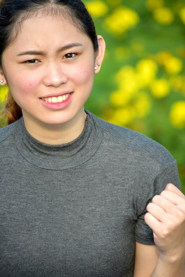 Азиатская женщина и гнев стоковая фотография