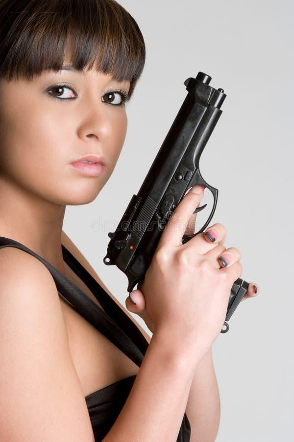 азиатская женщина пушки стоковое фото