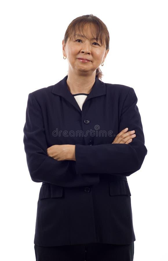 азиатская женщина старшия дела стоковые фотографии rf