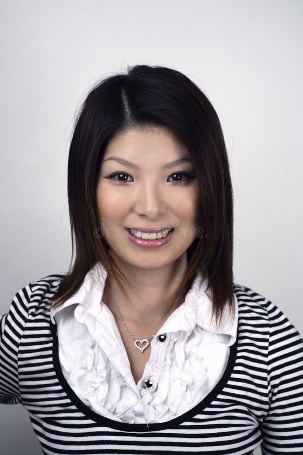азиатская женщина студии стоковые изображения