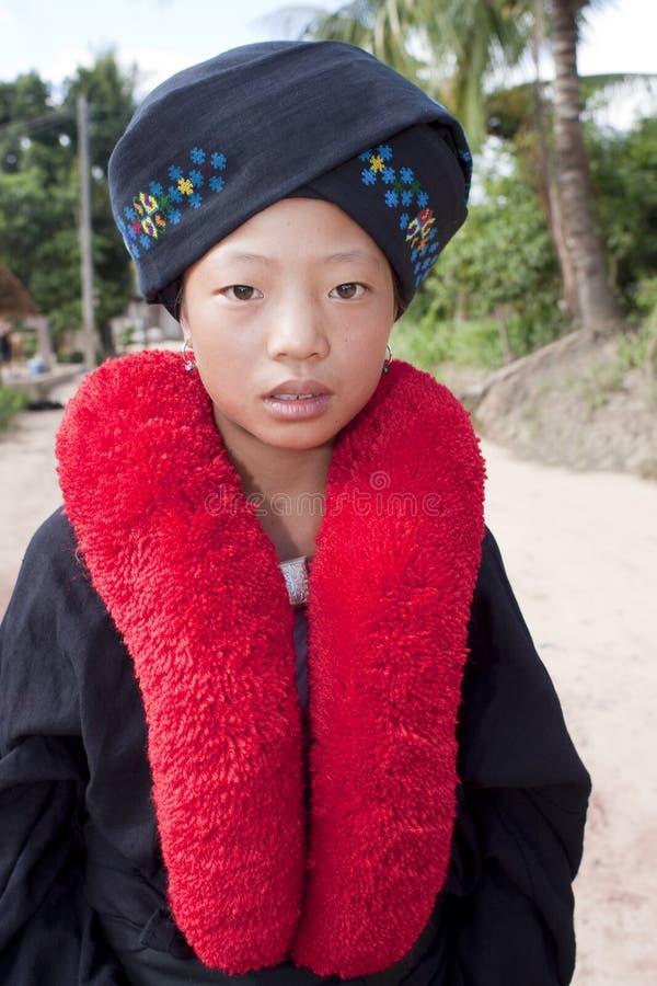азиатская женщина yao Лаоса стоковые изображения rf
