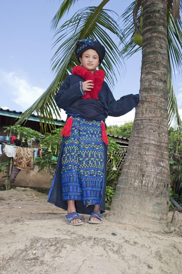 азиатская женщина yao Лаоса стоковое изображение