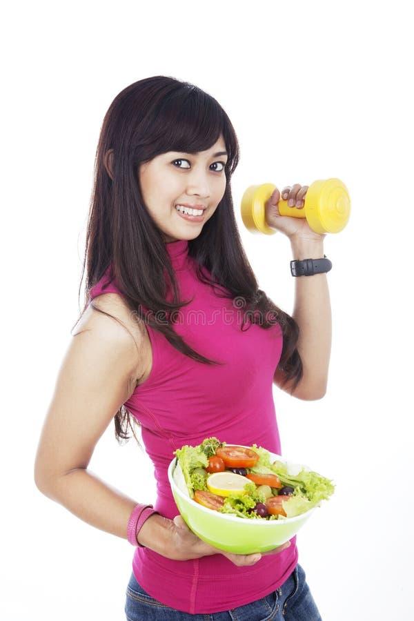 азиатская здоровая женщина стоковая фотография rf