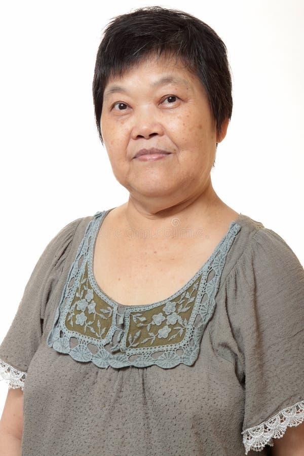азиатская китайская старуха стоковая фотография rf