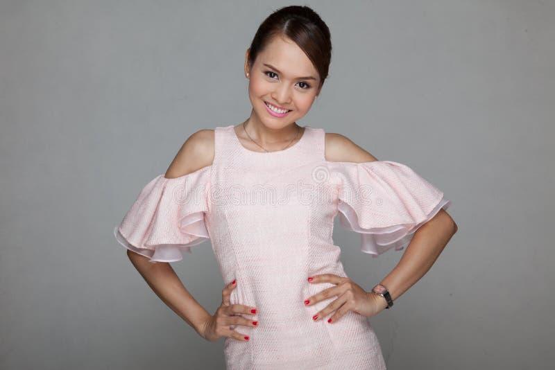 азиатская красивейшая девушка счастливая стоковая фотография