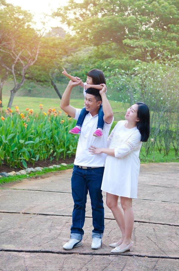 азиатская красивейшая семья стоковые фото
