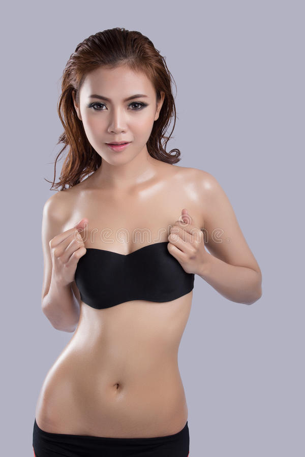 Азиатская красота, сексуальная модель женщины стоковая фотография rf