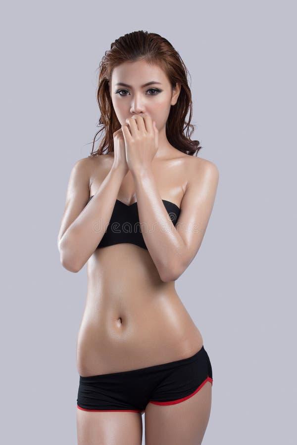 Азиатская красота, сексуальная модель женщины стоковое изображение rf