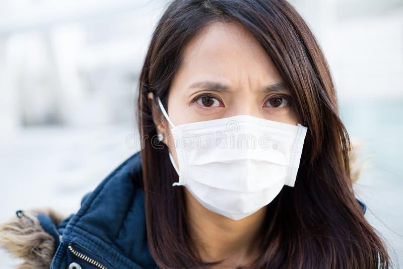 Азиатская маска носки женщины медицинская стоковое изображение