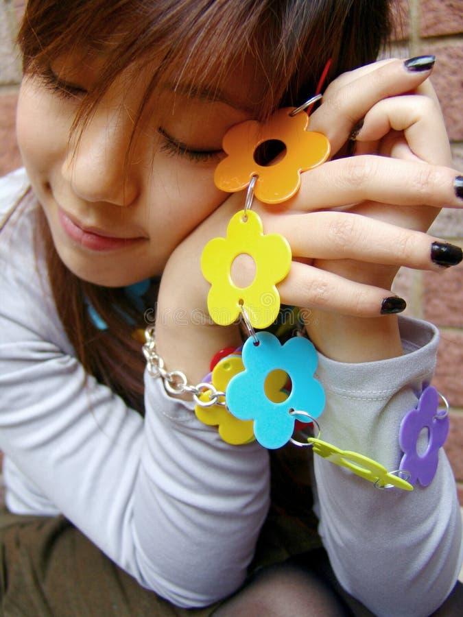 азиатская милая девушка стоковая фотография rf