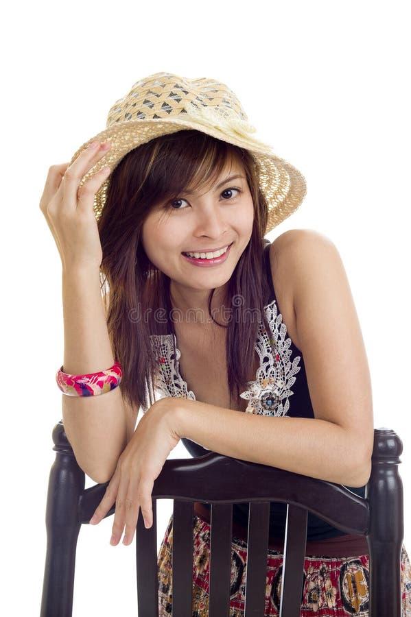 азиатская милая женщина стоковое изображение rf