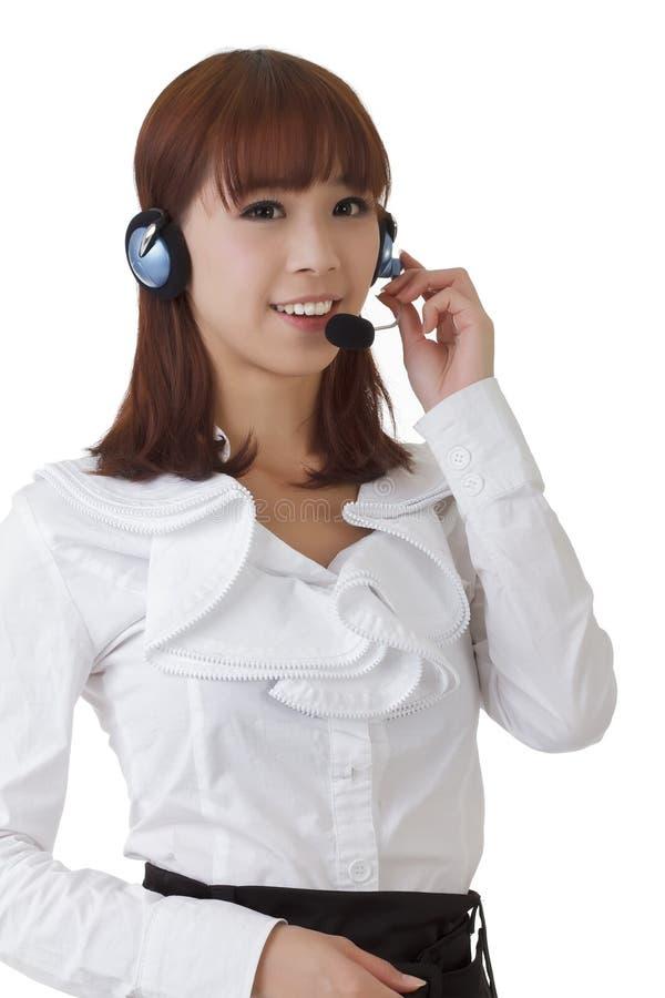 азиатская милая секретарша стоковое изображение rf