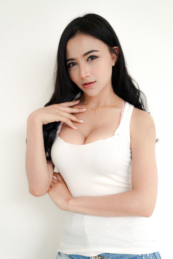 Азиатская молодая сексуальная дама стоковые изображения rf