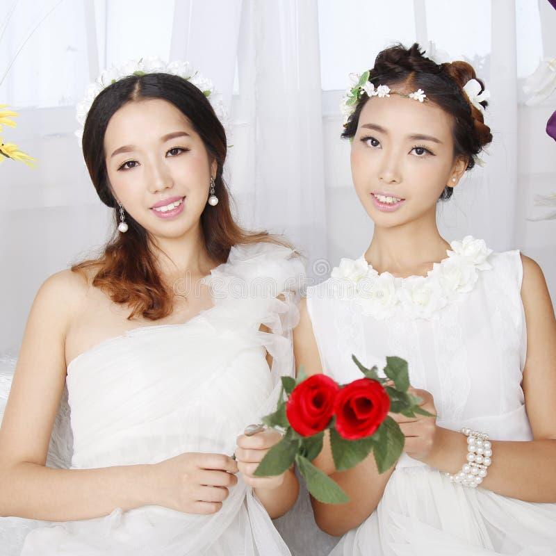 Азиатская невеста красоты стоковые фото