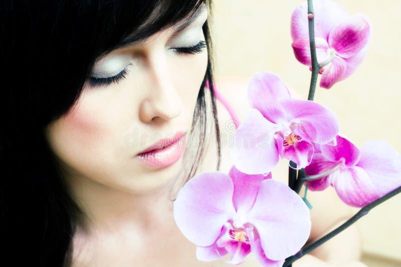 азиатская орхидея девушки стоковое изображение