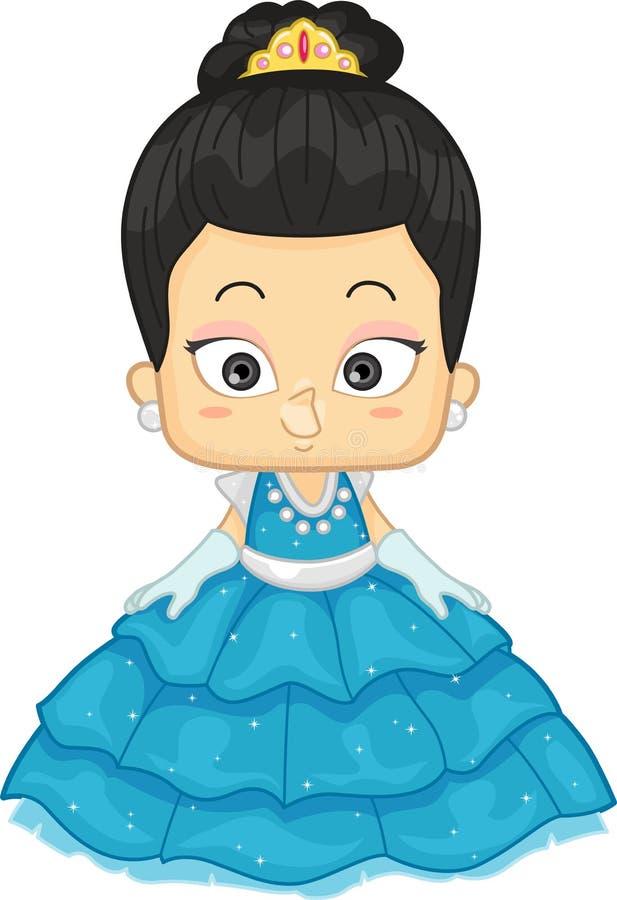 Азиатская принцесса иллюстрация вектора