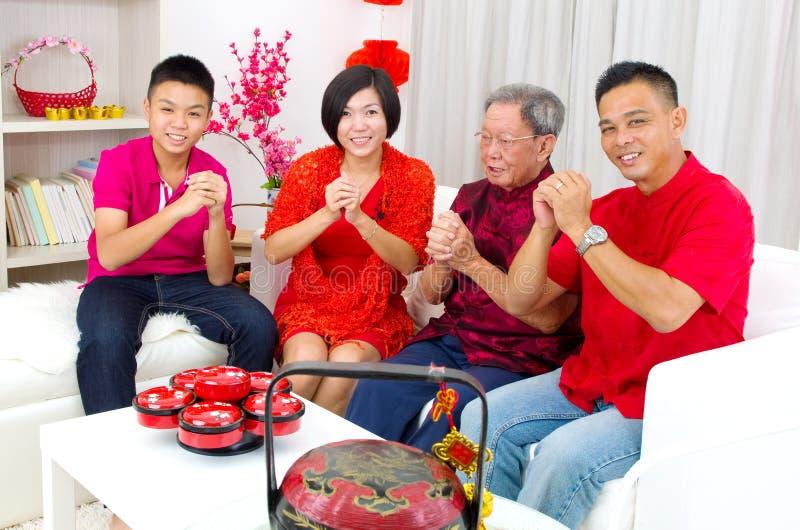 азиатская семья стоковое фото