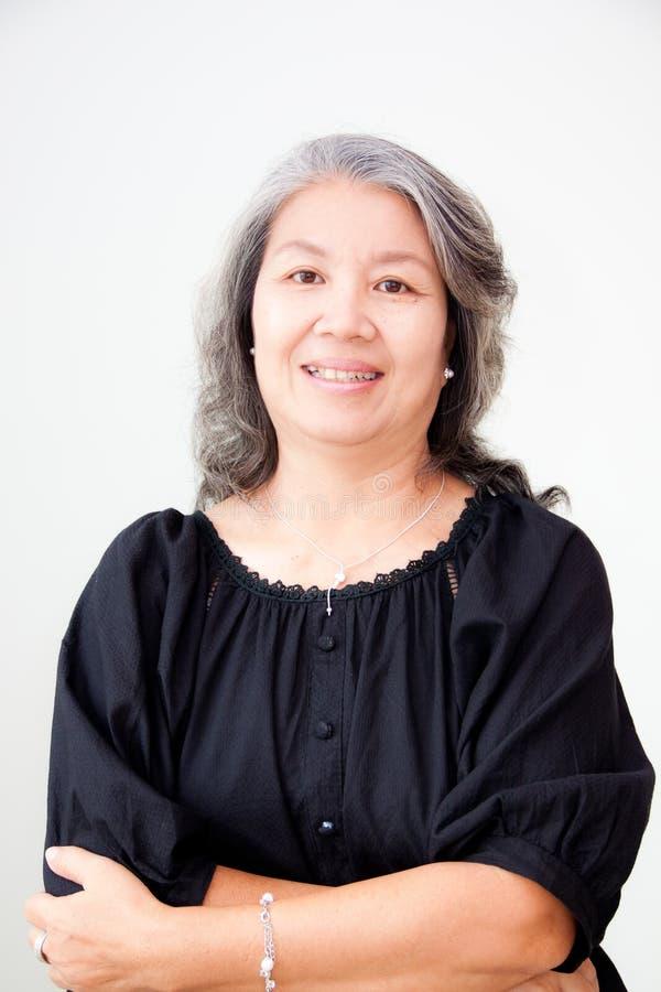 азиатская старшая женщина стоковые изображения rf