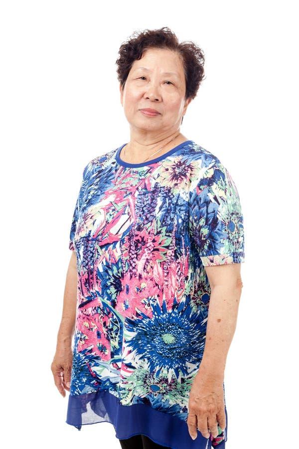 азиатская старшая женщина стоковое изображение