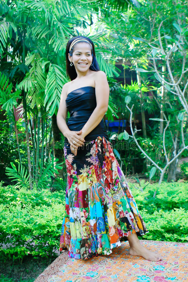 азиатская счастливая женщина стоковые фотографии rf