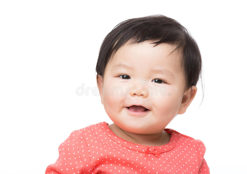 Азиатская улыбка ребёнка стоковая фотография rf