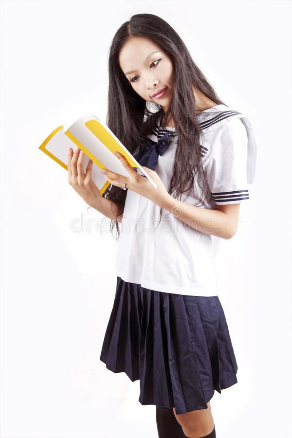 азиатская школьница стоковые фотографии rf