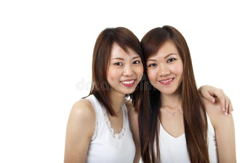 азиатские девушки стоковое фото rf