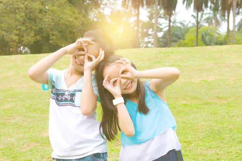 азиатские дети стоковое изображение rf