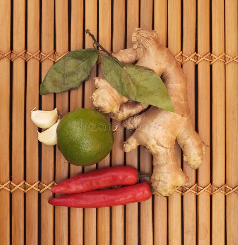 азиатские ингридиенты еды стоковые изображения